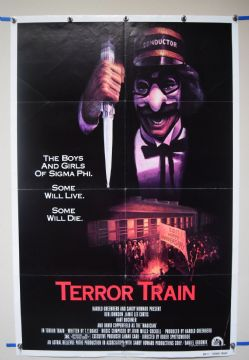 Terror Train (1980) Horror Poster Jamie Lee Curtis  - US One Sheet
